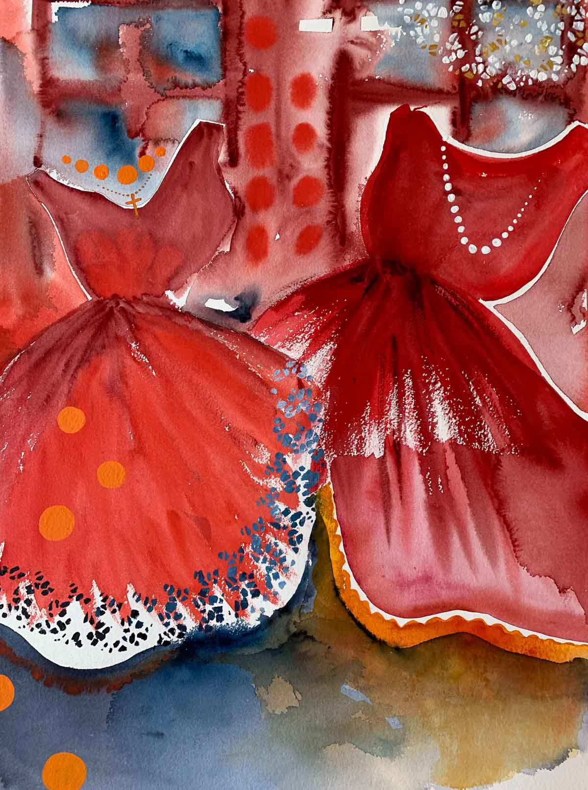 Red ballerinas