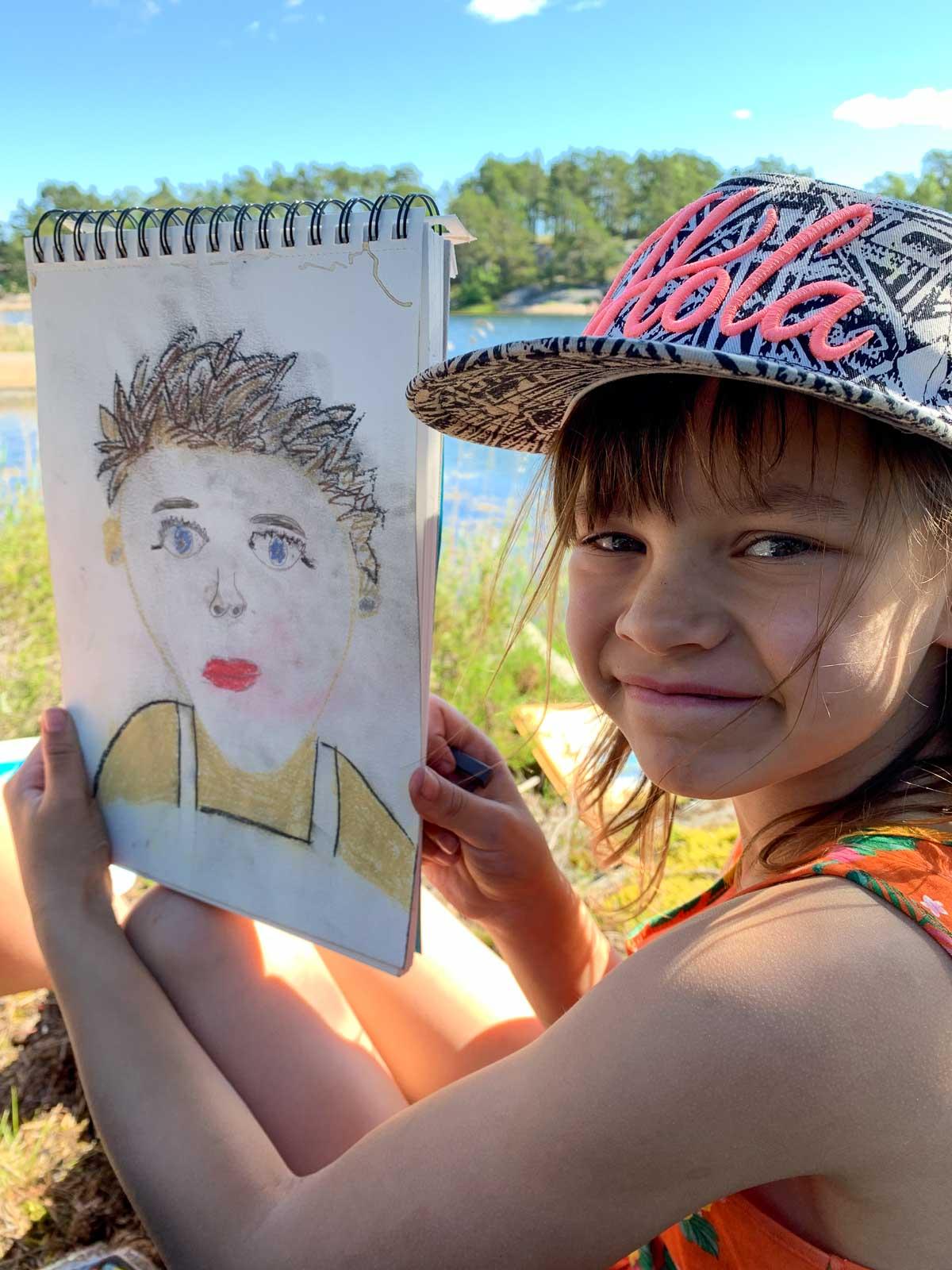 Porträtt av konstnären
